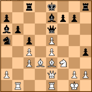 Sokolov-Johansen: Position after 21...Be7