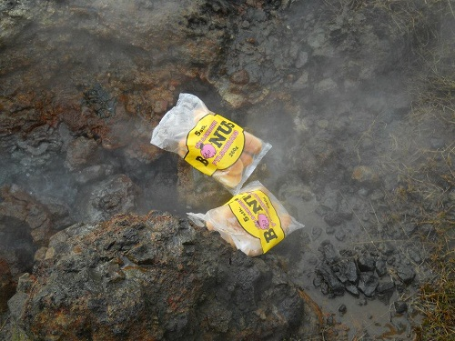 Hotdogs in the stream