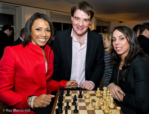 Gawain, Dame Kelly Holmes and Beth Tweddle