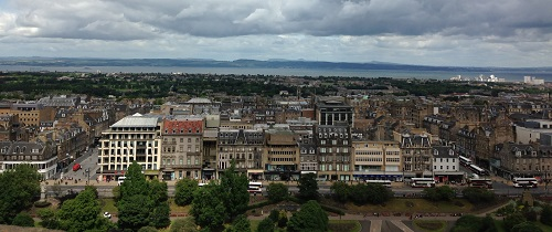 Panoramo shot of Princes St