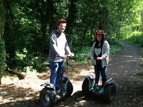 We can ride a segway :-)