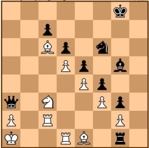 Kolbus vs Palliser 1/2-1/2. Black to move, Can you spot the winning plan?