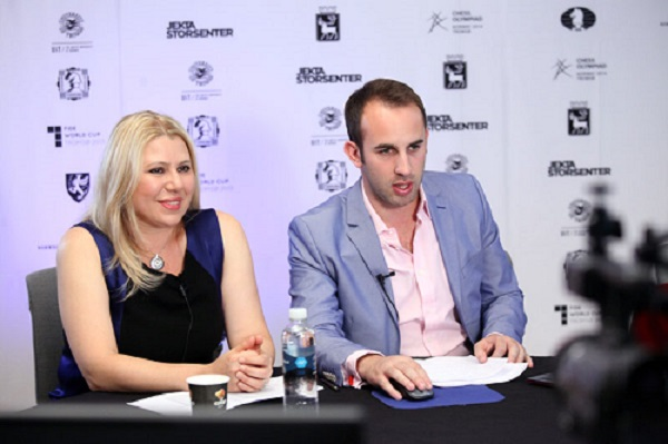 The Commentary Team - Suzan Polgar and Loz Trent