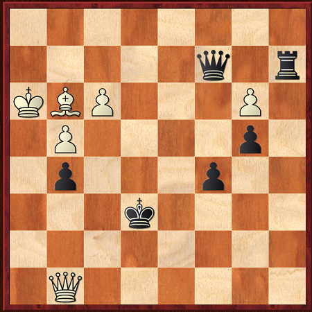 Wang vs McLaren Round 5. Here the winner managed to win after Black blundered with 56...Kf6?? Allowing mate in 15. Can you calculate it? Or can you see how Black keeps drawing, hard as it is to defend.