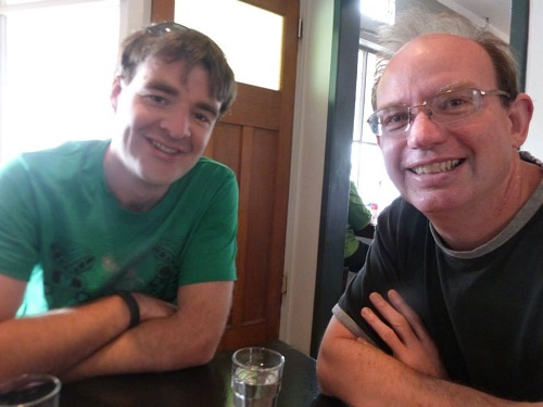 Alan and Ga, Lunch at Plimmerton.
