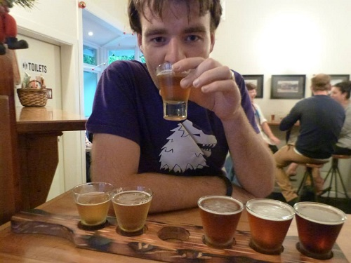 Beer Tasting. The Englishman was desperate to find a pub!