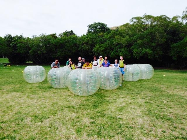 Bubble football featuring GM Gawain Jones, GM Alexandr Fier, FM Thorpen Koop, WGM Nino Maisuradze, Matt Drummond,WIM Heather Richards, IA Charles Zworestine, WIM Sue Maroroa,