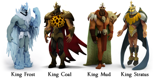The 4 Kings have different abilities.