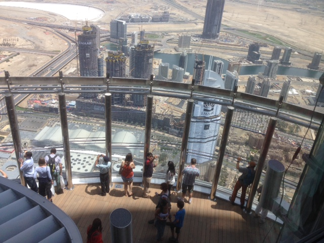 Looking down on the Observation Deck