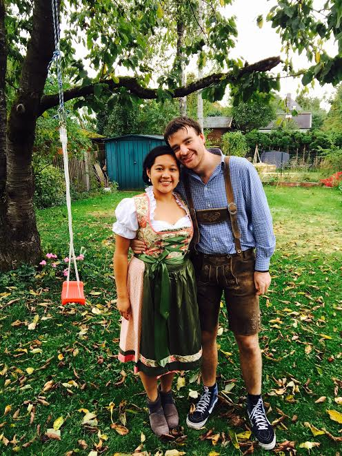Our traditional Oktoberfest outfits!